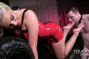 Foot Service Bitch for Britney Amber