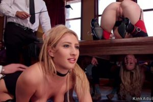 1066826 Two Blondes Anal Fucked In Bdsm Party