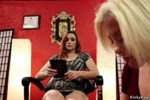 1109193 Blonde Pedicure Is Hard Whipped Lezdom