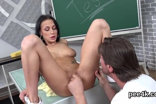 Flawless honey gets her soft honey pot absolute of warm