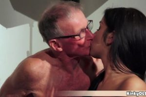 1145884 Two Dirty Old Grandpa Using A Petite Teen Slut