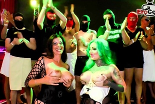 extreme hardcore german gangbang and creampie party