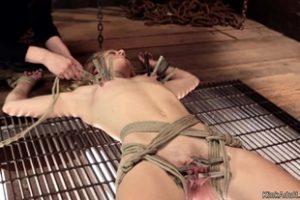 1198333 Gagged And Tied Blonde In Lezdom