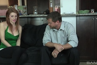 Lilith Lust is lusting after her step dadz dick so he f