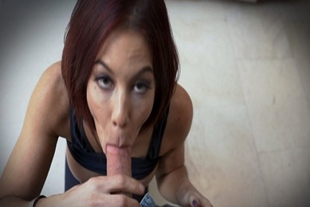 Ryder Skye sucking a huge young cock