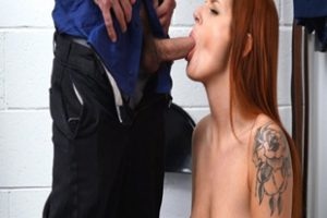 1209569 Redhead Teen Punished By The Officer