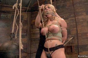 1249904 Huge Tits Blonde Is Toyed In Bondage