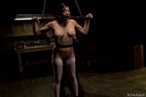 1299331 Busty Chained Slave Gets Waxed