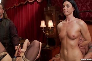 Ass to mouth sex at bdsm orgy party