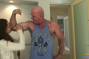 Lily Glee · Muscle Daddy Fucks Young Tight Slut