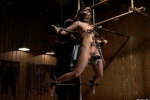 1329622 Slave Bound In Metal Device In The Air