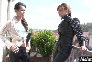 Ferrara Gomez and another lesbian girl want to lick one another's cunts