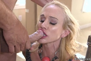 Sold big tits blonde banged by trafficer