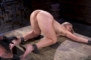 Blonde slave exposed ass fisted