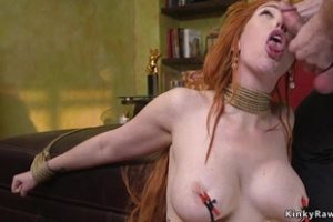 835802 Huge Tits Redhead Slave Gagged With Dick