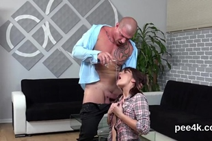 Exceptional hottie gets her spread snatch absolute of w