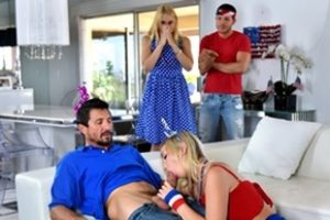 Family Strokes Sarah Vandella I Pledge Allegiance To My Father Figures Cock Video