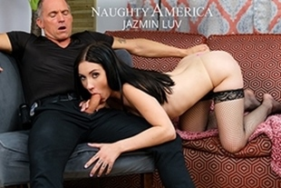 NaughtyAmerica · Jazmin Luv goes to town on an older cock